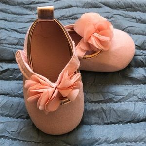 Pink flower shoes